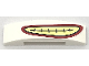 Part No: 93273pb080  Name: Slope, Curved 4 x 1 Double No Studs with Red and Yellow Smile Pattern
