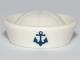 Part No: 93557pb01  Name: Minifigure, Headgear Hat, Sailor with Anchor Pattern