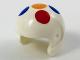 Part No: 93560pb02  Name: Minifigure, Headgear Helmet Sports with 5 Large Multi-Color Polka Dots Pattern