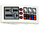 Part No: 93606pb059  Name: Slope, Curved 4 x 2 No Studs with Airplane Control Panel Pattern (Sticker) - Set 60104