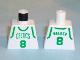 Part No: 973bpb183  Name: Torso NBA Boston Celtics #8 (White Jersey) Pattern