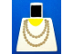 Part No: 973p72  Name: Torso Necklace Gold and Yellow Undershirt Pattern
