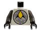 Part No: 973pb0003c01  Name: Torso Space Exploriens Logo Pattern / Dark Gray Arms / Black Hands