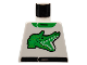 Part No: 973pb0013  Name: Torso Racers Race Alligator Green Pattern