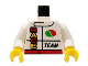 Part No: 973pb0101c01  Name: Torso Octan Logo and Race Team Pattern / White Arms / Yellow Hands