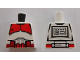 Part No: 973pb0117r  Name: Torso SW Armor Clone Trooper with Red Mark 'Shock Trooper' Pattern