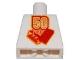 Part No: 973pb0134  Name: Torso Lego 50 Year Anniversary Logo Pattern