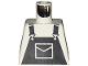 Part No: 973pb0202  Name: Torso Overalls Black Pattern (Dungarees)