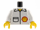Part No: 973pb0242c01  Name: Torso Shell Logo on Jacket with Pocket Pattern / White Arms / Yellow Hands