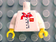 Part No: 973pb0395c01  Name: Torso Chef with 4 Buttons, Short Red Neckerchief, McDonald's Logo Pattern (Sticker) / White Arms / Yellow Hands