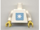 Part No: 973pb0465c01  Name: Torso Maersk Pattern (Sticker) / White Arms / Yellow Hands
