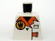 Part No: 973pb0489  Name: Torso Agents Villain Jacket with Orange Lapels and Buckle Pattern