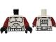 Part No: 973pb0510c03  Name: Torso SW Armor Clone Trooper Pattern (Clone Wars) / Dark Red Arms / Black Hands