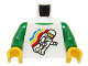 Part No: 973pb0549c01  Name: Torso Classic Space Minifigure Floating Pattern / Green Arms / Yellow Hands