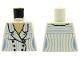 Part No: 973pb0596  Name: Torso Indiana Jones Suit Jacket Female with Blue Pinstripes Pattern