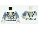 Part No: 973pb0626c01  Name: Torso SW Clone Pilot with Sand Blue Belt and Printed Back Pattern / Sand Blue Arms / White Hands