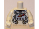 Part No: 973pb0669c01  Name: White Torso Space with Classic Space Logo and Tubes Pattern / White Arms / White Hands
