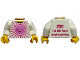 Part No: 973pb0854c01  Name: Torso Pink Sun Front, 2011 The LEGO Store South Coast Plaza Back Pattern / White Arms / Yellow Hands