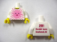 Part No: 973pb0869c01  Name: Torso Pink Sun Front, 2011 The LEGO Store Beachwood, OH Back Pattern / White Arms / Yellow Hands