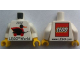 Part No: 973pb1072c01  Name: Torso LEGO World Denmark 2012 and Duck Pattern / White Arms / Yellow Hands