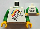 Part No: 973pb1121c01  Name: Torso Classic Space Minifig Floating Front, 2012 The LEGO Store Victor, NY Back Pattern / Green Arms / Yellow Hands