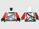 Part No: 973pb1214c01  Name: Torso SW Armor Republic Trooper (Old Republic) with Knife Pattern / Red Arms / Black Hands