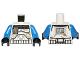 Part No: 973pb1299c01  Name: Torso SW Armor Captain Rex, Dirt Stains Pattern (Clone Wars) / Blue Arms / Black Hands
