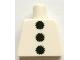 Part No: 973pb1398  Name: Torso 3 Black Pom Poms Pattern