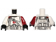 Part No: 973pb1594c01  Name: Torso SW Armor Clone Trooper with Dark Red Center Emblem, Gray Vertical and Diagonal Belts Pattern / Dark Red Arm Left / White Arm Right / Black Hands