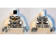 Part No: 973pb1866c01  Name: Torso Batman Logo Spacesuit with Four Hoses and Utility Belt Pattern / White Arms / Light Bluish Gray Hands