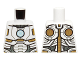 Part No: 973pb2193  Name: Torso Armor with Light Blue Circle and Gold and White Plates Pattern (Space Iron Man)