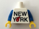 Part No: 973pb2326c01  Name: Torso 'NEW YORK' Big Red Apple Pattern / Blue Arms / Yellow Hands