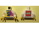 Part No: 973pb2633c01  Name: Torso Lego World Denmark 2017 and Number 9 Pattern / White Arms / Yellow Hands