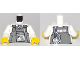 Part No: 973pb2917c01  Name: Torso Town Police with Body Armor, Name Tag, Radio, and 'SECURITY' Pattern / White Arms / Yellow Hands