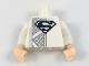 Part No: 973pb2936c01  Name: Torso with Black Superman Logo, Dark Bluish Gray Mesh Stripe Pattern / White Arms / Light Flesh Hands