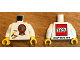 Part No: 973pb3025c01  Name: Torso Lego World Denmark 2018 and Number 10 Pattern / White Arms / Yellow Hands