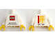 Part No: 973pb3191c01  Name: Torso THE LEGO STORE Shanghai Disneytown Front, 2016 - 2017 Back Pattern / White Arms / Yellow Hands