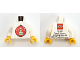 Part No: 973pb3206c01  Name: Torso Kladno with Christmas Tree Ornament on Front,  'PF 2017' and Lego Logo on Back Pattern / White Arms / Yellow Hands