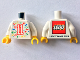 Part No: 973pb3508c01  Name: Torso LEGO World The Netherlands 2019 with Splash of Colors, Stars and Number 11 Pattern / White Arms / Yellow Hands