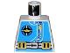 Part No: 973px170  Name: Torso Aquazone Aquanaut Sub Logo, Zipper, and Weight Belt Pattern