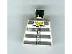 Part No: 973px432  Name: Torso Town Prisoner Number 50380, Dark Bluish Gray Stripes, Buttons, Hairy Chest Pattern