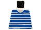 Part No: 973px61  Name: Torso Horizontal Blue Stripes Pattern