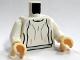 Part No: 973px86ac01  Name: Torso SW Loose Dress Light Bluish Gray Folds Pattern (Leia) / White Arms / Light Flesh Hands