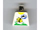 Part No: 973px98  Name: Torso Divers Dolphin Logo and Fish Pattern