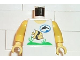 Part No: 973px98c01  Name: Torso Divers Dolphin Logo and Fish Pattern / Yellow Arms / Yellow Hands