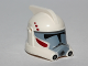Part No: 98099pb01  Name: Minifigure, Headgear Helmet SW ARC Clone Trooper with Dark Red and Dark Bluish Gray Pattern
