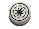 Part No: 98138pb011  Name: Tile, Round 1 x 1 with SW Emblem of the Galactic Republic with 8 Spokes Pattern