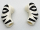 Part No: 981982pb125  Name: Arm, (Matching Left and Right) Pair with Black Zebra Stripes Pattern