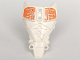 Part No: 98569pb08  Name: Hero Factory Full Torso Armor with White and Orange Circuitry Pattern