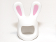 Part No: 99244pb01  Name: Minifigure, Headgear Mask Bunny Ears with Bright Pink Auricles Pattern